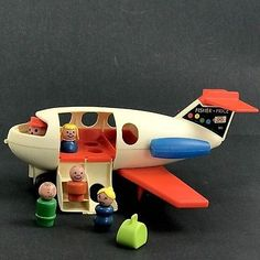 Fisher Price Little People Family Fun Jet No. 183 1972 Vintage