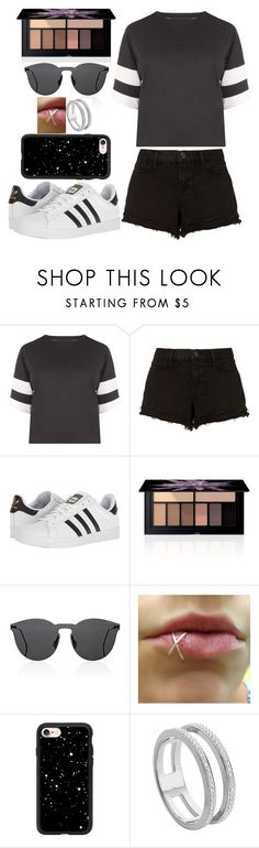 """Double Work"" by lucy-wolf ❤ liked on Polyvore featuring Kendall + Kylie, J Brand, adidas, Smashbox, Illesteva, Casetify and Monica Vinader"
