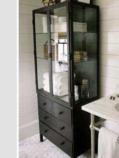 Black medicine cabinet