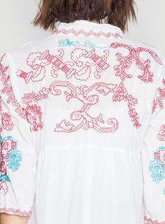 Detail: Johnny Was Biya Brava Tunic #decorative #red #embroidery #embroidered