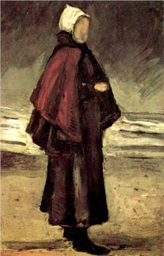 Fishermans Wife on the Beach - Vincent van Gogh 1882
