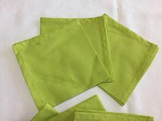 Lime Green Napkins, Cotton Napkins, Green Napkins, Dinner Napkins, Table Linens, Reusable Napkins, Cloth Napkins, Fabric Napkins by SewWhatbyMindyKay on Etsy