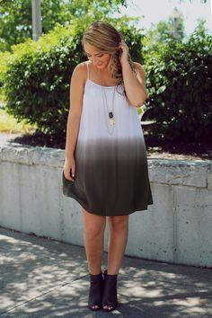 Days Fade Dress – Olive