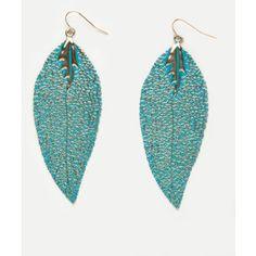 Charlotte Russe - Textured Leaf Earrings