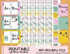 Planner stickers kawaii planning time etsy L