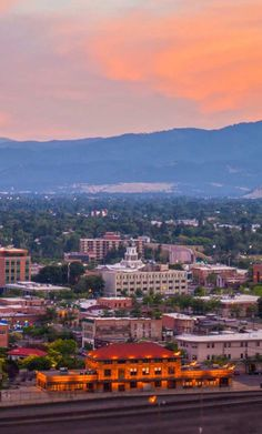 Sunset over downtown Missoula, Montana