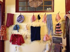 New display at @Darn Yarn in the Plant Fibers room. Most of the samples and swatches are all in one place now.  Neat!