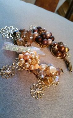 Handmade,OOAK vintage earring bracelet, authentic vintage repurposed from the 1940-60's, by Passion4Retro on Etsy