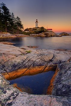 ✯ Point Atkinson Lighthouse - Is Located in West Vancouver, BC, Canada at Lighthouse Park Vancouver Bc Canada, Vancouver British Columbia, Vancouver Island, Montreal Canada, Canada Travel, Places To See, Beautiful Places, Amazing Places, Scenery