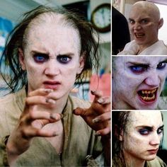 In The Lord of the Rings, a flashforward was planned, in which Frodo showed himself how he would change if he kept The Ring for himself. What we have left are these photos of Elijah Wood, made up in Gollum style Fiction Film, Fantasy Fiction, Elijah Wood, Movie Characters, Fictional Characters, Recent Movies, Scary Monsters, Jrr Tolkien, Imagines