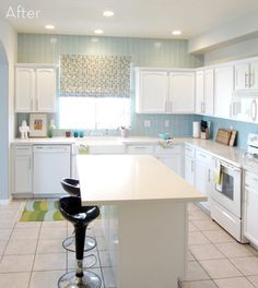 How to paint kitchen cabinets - get a professional, smooth painted finish. All the steps to get that glossy white finish youre hoping for. #[