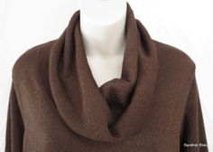 Coldwater Creek Brown Shimmer Cowl Neck Sweater Size 1X 18 NWT
