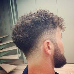 Hair cuts for my boys Boys With Curly Hair, Curly Hair Cuts, Wavy Hair, Curly Hair Styles, Men's Hair, Hairstyles Haircuts, Haircuts For Men, Fade Haircut, Hair And Beard Styles