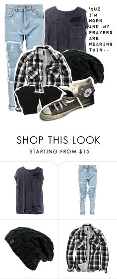 """""""""""'Cuz I'm worn and my prayers are wearing thin..""""~ Worn by Tenth Avenue North"""" by god-girl ❤ liked on Polyvore featuring Boohoo, H&M and Converse"""