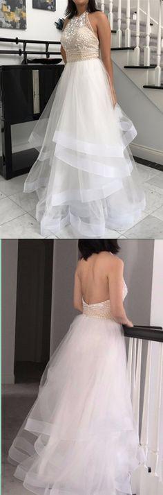 Halter Backless Handmade Prom Dress,Long Prom Dresses,Prom Dresses,Evening Dress, Prom Gowns, Formal Women Dress,prom dress