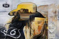 "Saatchi Art Artist Arno Bruse; Painting, ""Route 66"" #http://www.saatchiart.com/smart.art"