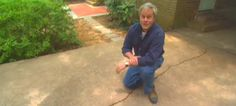 repair/ redo your cracked/ old concrete driveway to make it look new without replacing it!