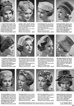 Because every day was a bad hair day? (Imagine the 'hat hair')!!  /1961 ... fine Ward's millinery! by x-ray delta one, via Flickr