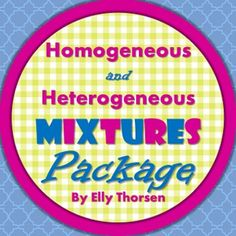 This package has a worksheet, activity, and assessment for middle school science students learning about homogeneous and heterogeneous mixtures.