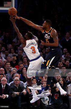 News Photo : Tim Hardaway Jr. #3 of the New York Knicks heads...