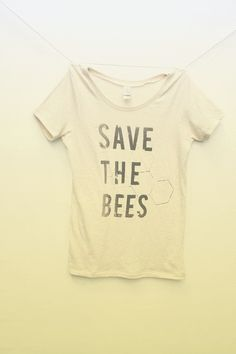 Save the Bees Shirt Womens Scoop Neck Organic Cotton Shirt Bamboo xs S M L XL Clothin - Dark Shirt - Ideas of Dark Shirt - Save the Bees Shirt Womens Scoop Neck Natural White by naturwrk Visual Kei, Grunge, Save The Bees, Fashion Mode, Look At You, Look Cool, My Wardrobe, Just In Case, Style Me