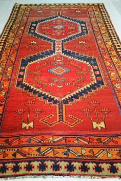 Vintage Persian Sarab by EdenRugCollection on Etsy