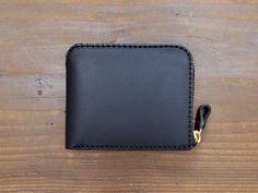 ラウンドファスナー二つ折り財布(GS-48) 黒