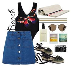 """The Sun Is Up"" by colorful-jovana ❤ liked on Polyvore featuring Miss Selfridge, Moncler, Bobbi Brown Cosmetics and Givenchy"