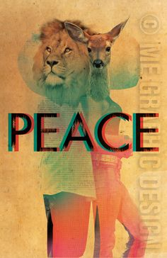 peace : a place where lions and deers live happy