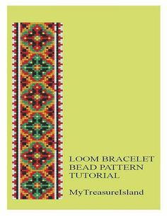 For sale is Bead Loom Geometrical Motif 5 Bracelet Pattern in PDF format. For…