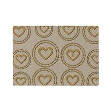 Cute Gold Heart Pattern Linen Cutting Board