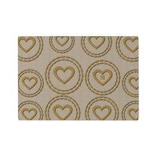 Cute Gold Heart Pattern Linen Cutting Board