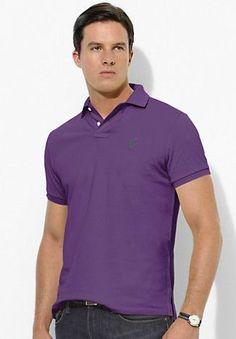 Ralph Lauren Men\u0027s Custom-Fit Stretch-Mesh Short Sleeve Polo Shirt Purple  http://www.hxzyedu.cn/?blog\u003dralph+lauren+polo+outlet
