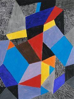 Farbformen und Struktuten by Johannes Itten, 1953 Art And Illustration, Johannes Itten, Abstract City, Josef Albers, Great Paintings, Art Database, Wassily Kandinsky, Op Art, Abstract Expressionism