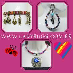 😱Mais cor e alegria ao seu dia a dia com bijus exclusivas 😍  Peças únicas e artesanais! Compre pelo site 👉www.ladybugs.com.br 🐞