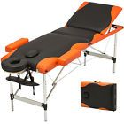 Fold Portable Massage Table 3 Fold Facial SPA Bed Tattoo w/Free Carry Case