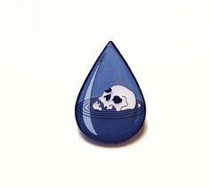 """Drowning In Tears"" Pin"