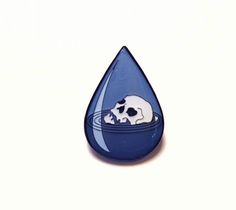 """Drowning In Tears"" Pin"