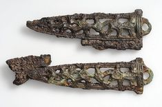 Viking fire steel made of gilded iron, Birka, Sweden.