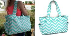 Mint Chevron Diaper Bag! I'm running a deal today though Very Jane. Get it 41% off!!