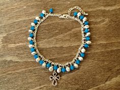 Jingle Bell Cross Anklet-Custom Ordered £12.