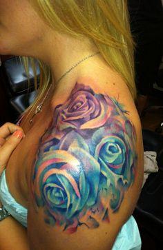 Картинки по запросу синяя роза акварель