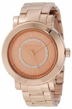 Vince Camuto Women%27s VC%2F5002RGRG Swarovski Crystal Dial Rosegold-Tone Bracelet Watch