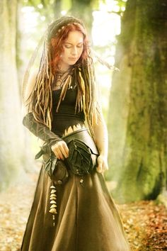 """Druantia...""""Queen of the Druids"""". Celtic Fir Goddess and Mother of the tree calendar. Symbolizes protection, knowledge, creativity, passion, sex, fertility, growth, trees and forests. Her feast day was Beltane"""
