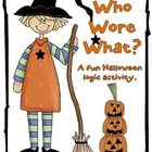 This fun activity will keep your students thinking as they try to figure out who wore which costume!... Logic Puzzle