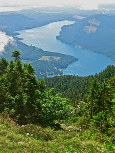 Lake Cushman in the summer from Mt. Ellinor. Olympic National Forest