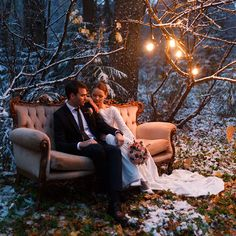 Зимняя свадьба: тёплое и уютное оформление