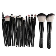 20 Unids Pinceles de Maquillaje + 2 Unids Grande Powder Blush Fundación Brush pincel brochas maquillaje de Cejas Sombra de Ojos Cepillo Del Maquillaje conjunto