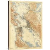 Found it at Wayfair - 'San Francisco and Vicinity, California, 1915' by U.S. Geological Survey Graphic Art on Canvas