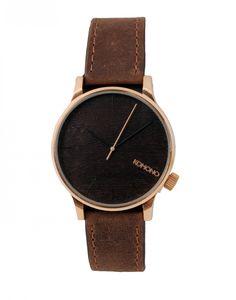 Montre cuir marron Winston Gold Woodhttp://www.letagehomme.com/montre-komono-marron-winston-gold-wood.html  Quatre autres couleurs disponibles sur le site de l'Étage Homme